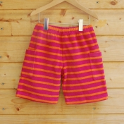 Stripy Terry Towelling Shorts in Organic Cotton