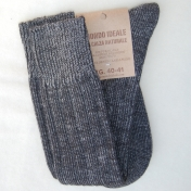 2-Pack Italian Wool/Organic Cotton Long Socks for Men and Women