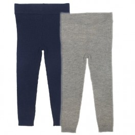 Extra-fine 100% Merino wool kids leggings by FUB