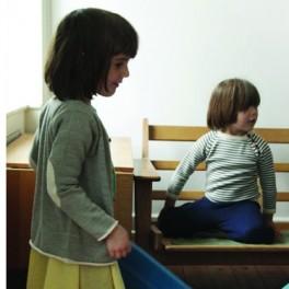 100% Merino wool grey cardigan for kids by FUB