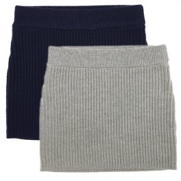 100% Wool Skirt for Girls by FUB in Navy and Grey
