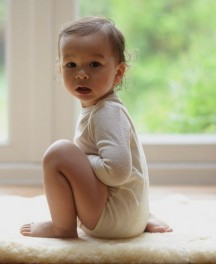 All-silk Long-Sleeved Baby-body