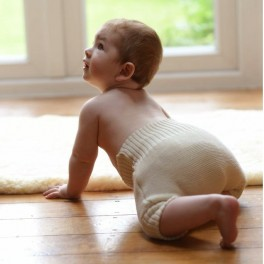 Disana's knitted organic wool nappy cover - lanolise with lanolin