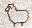 Sheep motif on Engel's Babygrow / Pyjamas in Organic Merino Wool With Feet
