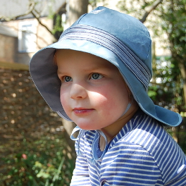 Organic Sun Hat with Ties under the Chin to Stay On