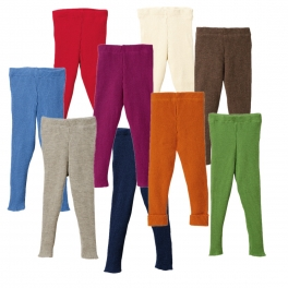 Disana's knitted wool leggings can be used as nappy covers too