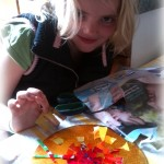 Midsummer Sun Mosaic - Craft Ideas for Celebrating Midsummer with Children