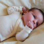 Organic Wool and Silk Baby Bodysuit
