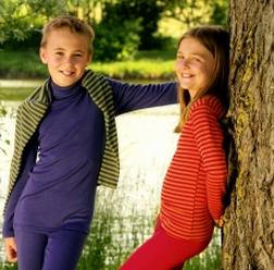 Wool/Silk Long-sleeved Vest Top by Engel