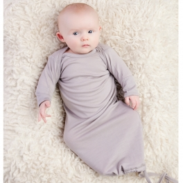 Baby in our Merino wool sleeping gown
